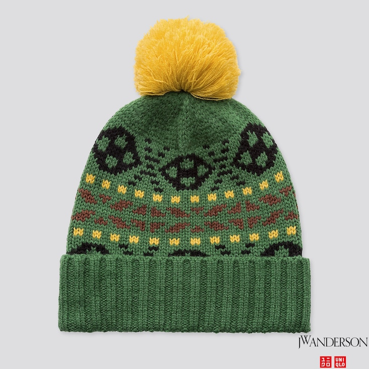 HEATTECH KNITTED CAP (JW ANDERSON), GREEN, large