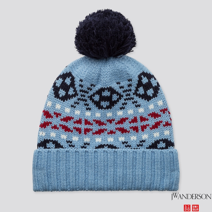 HEATTECH KNITTED CAP (JW ANDERSON), BLUE, large