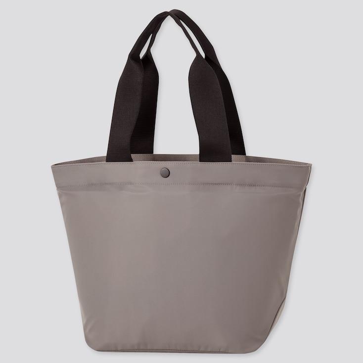 Women Nylon Tote Bag, Gray, Large