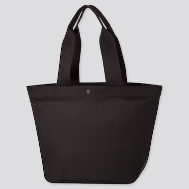 Women Nylon Tote Bag, Black, Medium