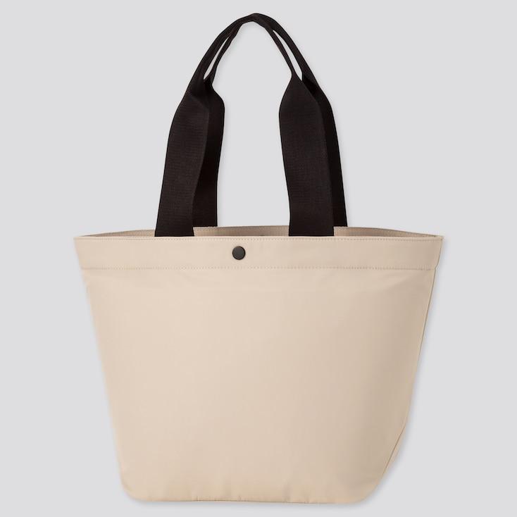 Women Nylon Tote Bag, Beige, Large