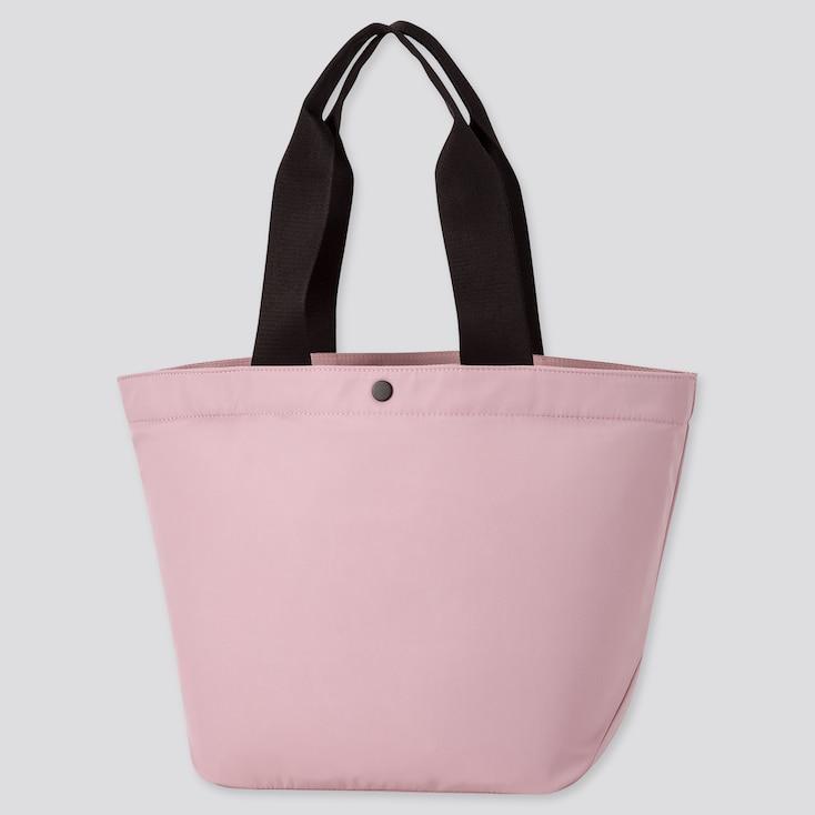 Women Nylon Tote Bag, Light Purple, Large
