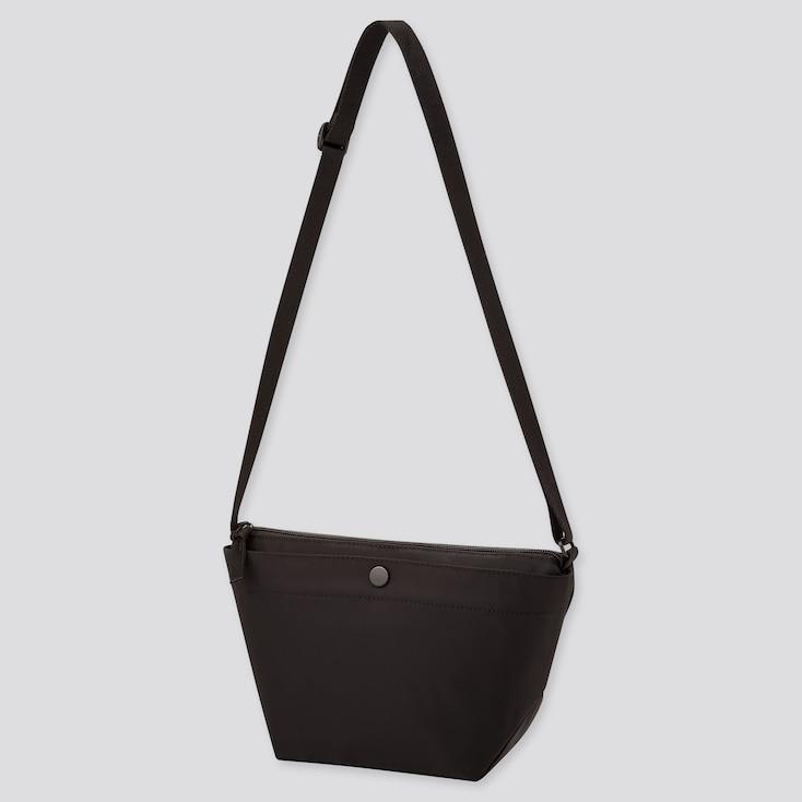 Women Nylon Mini Shoulder Bag, Black, Large