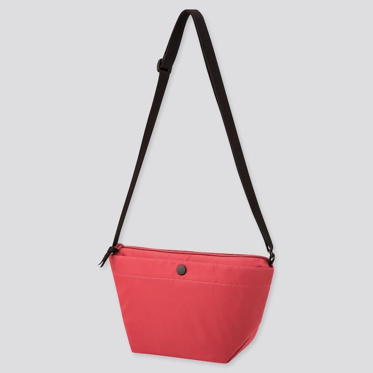 Women Nylon Mini Shoulder Bag, Red, Large