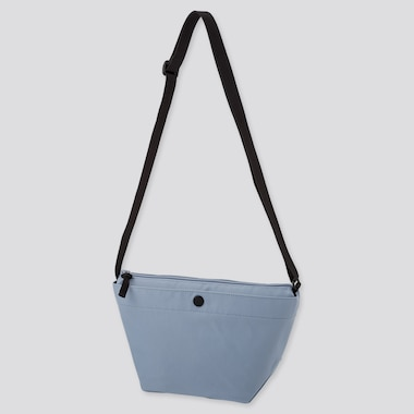 Nylon Mini Shoulder Bag, Blue, Medium