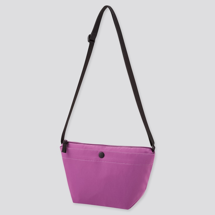 Women Nylon Mini Shoulder Bag, Purple, Large