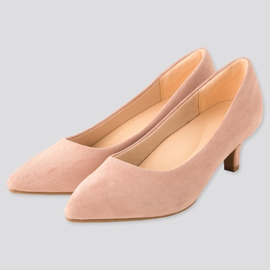 Women Comfort Feel Heeled Shoes, Pink, Medium