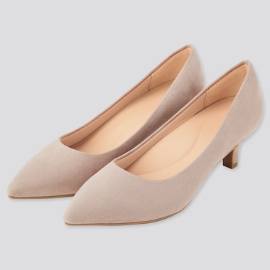 Women Comfort Feel Heeled Shoes (Online Exclusive), Beige, Medium
