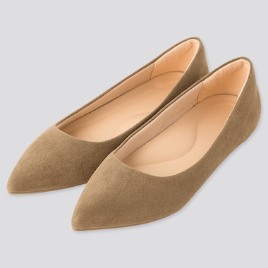 Women Comfort Feel Pointed Flat Shoes (Online Exclusive), Olive, Medium