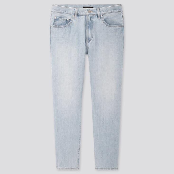 Men Regular-Fit Tapered Jeans, Light Blue, Large