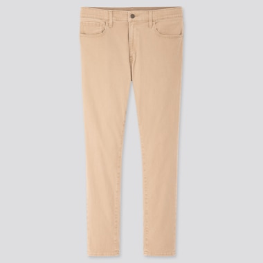Men Ultra Stretch Skinny-Fit Color Jeans, Beige, Medium