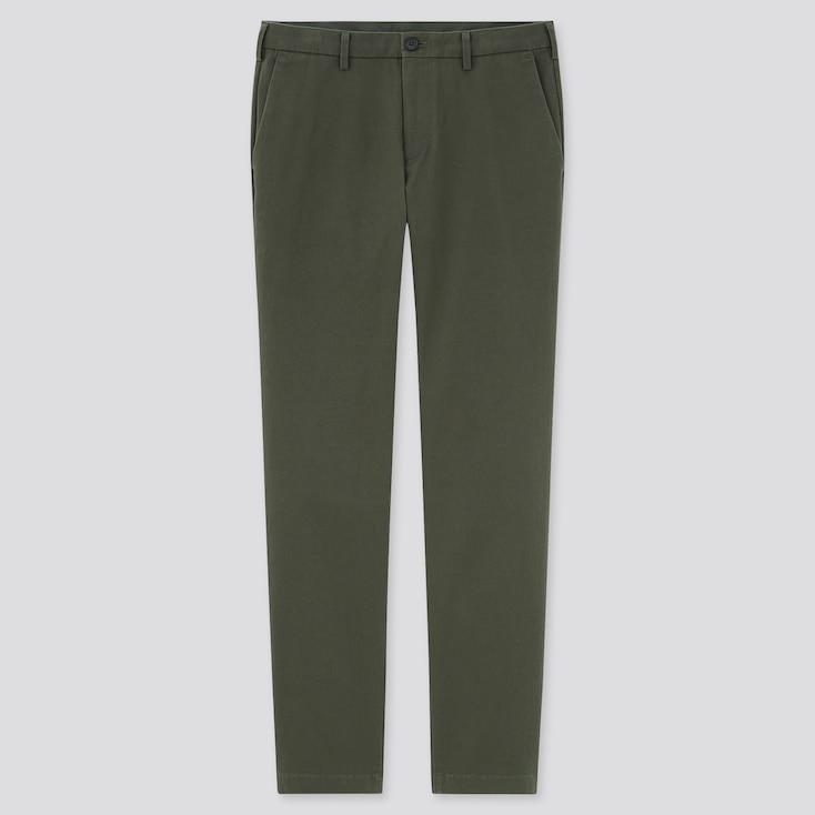 Men Slim-Fit Chino Pants, Olive, Large