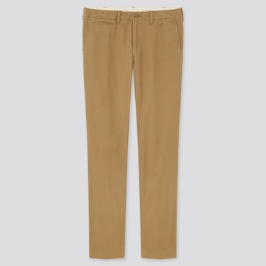 Men Vintage Regular-Fit Chino Pants, Brown, Medium
