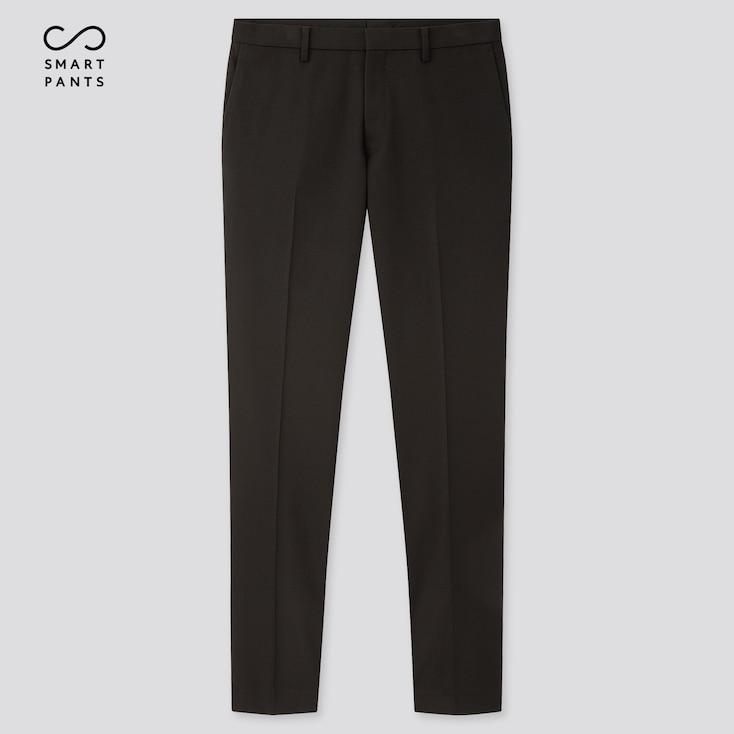 Men Easy Care Stretch Slim-Fit Pants, Black, Large
