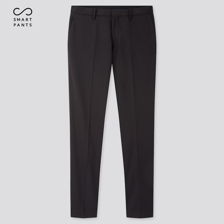 Men Easy Care Stretch Slim-Fit Pants, Navy, Large