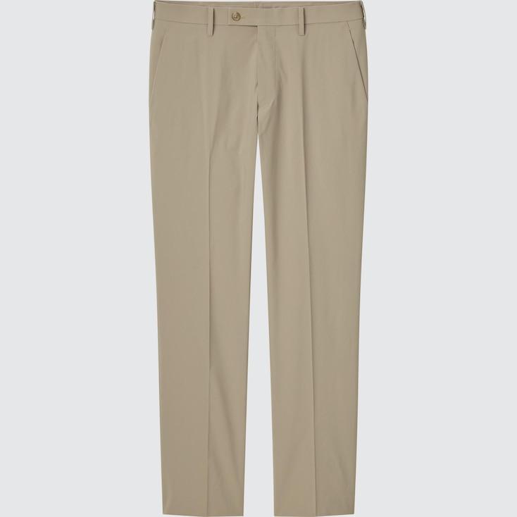 Men Ultra Light Pants (Cotton-Like), Beige, Large