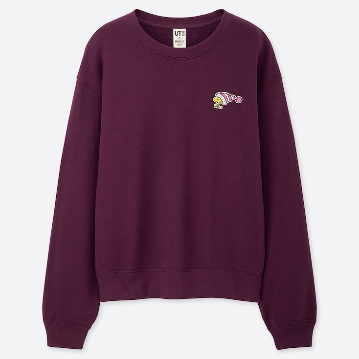 Women Peanuts Long-Sleeve Sweatshirt, Purple, Large