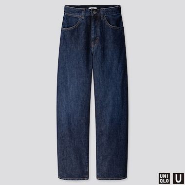 WOMEN UNIQLO U HIGH RISE WIDE LEG CURVED JEANS (L32)
