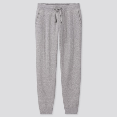 MEN PILE-LINED SWEATPANTS, GRAY, medium