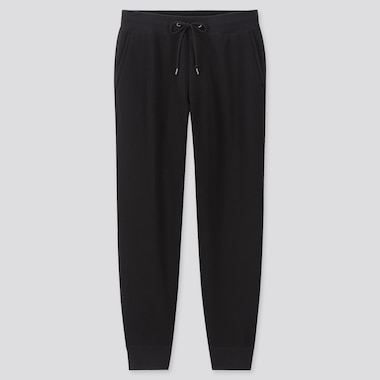 MEN PILE-LINED SWEATPANTS, BLACK, medium