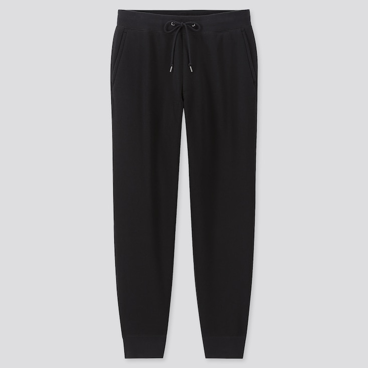 MEN PILE-LINED SWEATPANTS (ONLINE EXCLUSIVE), BLACK, large