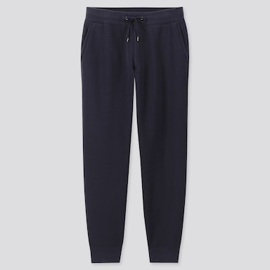 MEN PILE-LINED SWEATPANTS, NAVY, medium