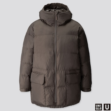 MEN U WARM PADDED PUFFER COAT, OLIVE, medium