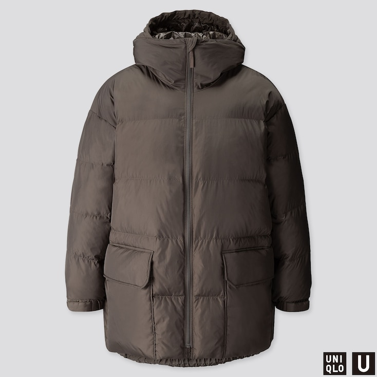 MEN U WARM PADDED PUFFER COAT, OLIVE, large