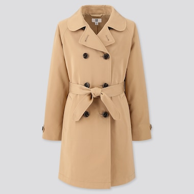 Girls Trench Coat, Beige, Medium