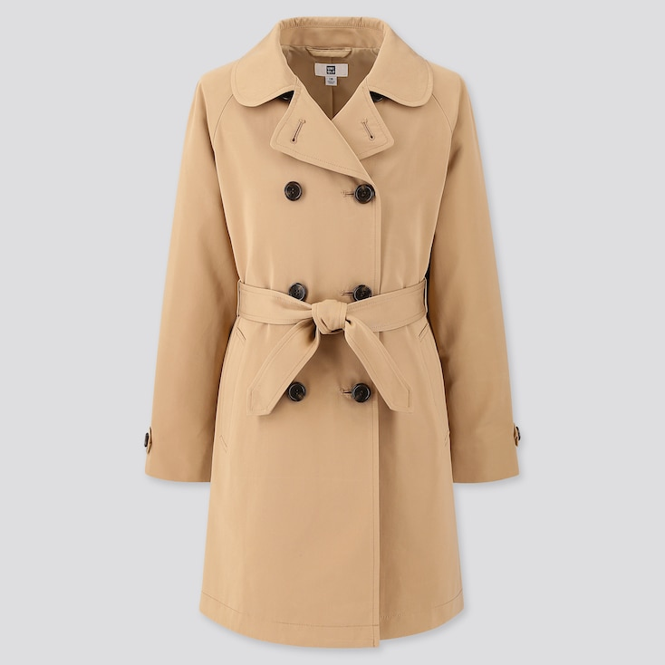 Girls Trench Coat, Beige, Large