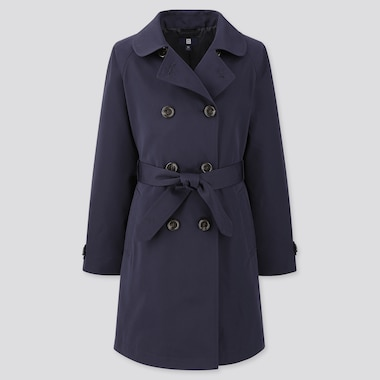 Girls Trench Coat (Online Exclusive), Navy, Medium