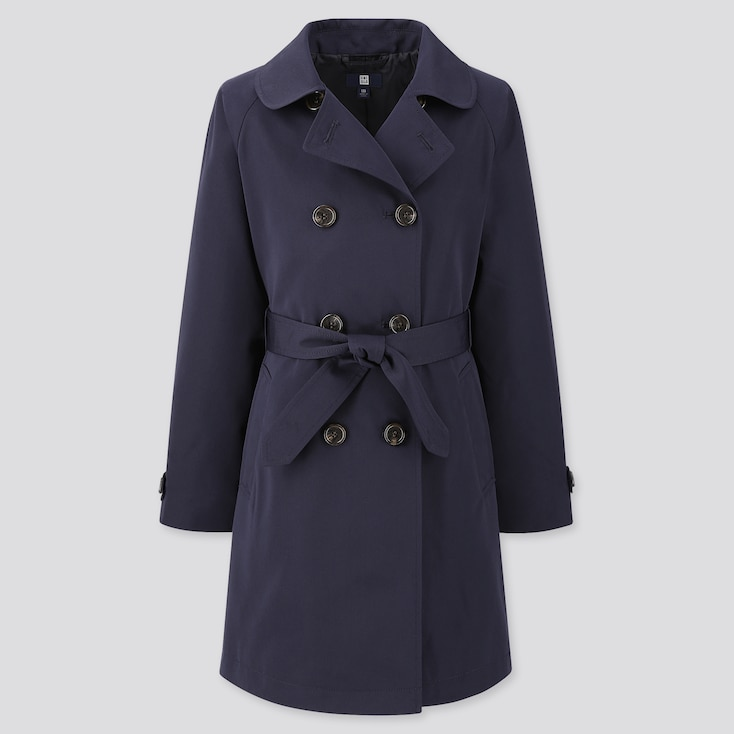 Girls Trench Coat (Online Exclusive), Navy, Large