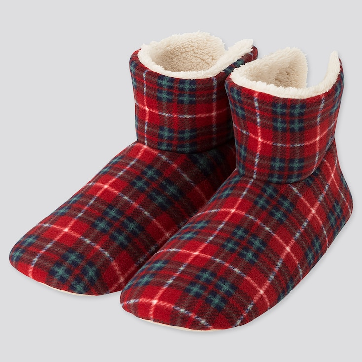 Women Printed Fleece Slippers (online Exclusive), Red, Large