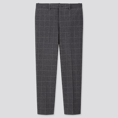 MEN EZY JERSEY WINDOWPANE CHECKED ANKLE LENGTH TROUSERS