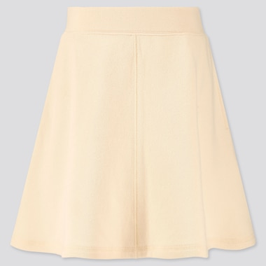 Girls Sweat Skirt, Off White, Medium