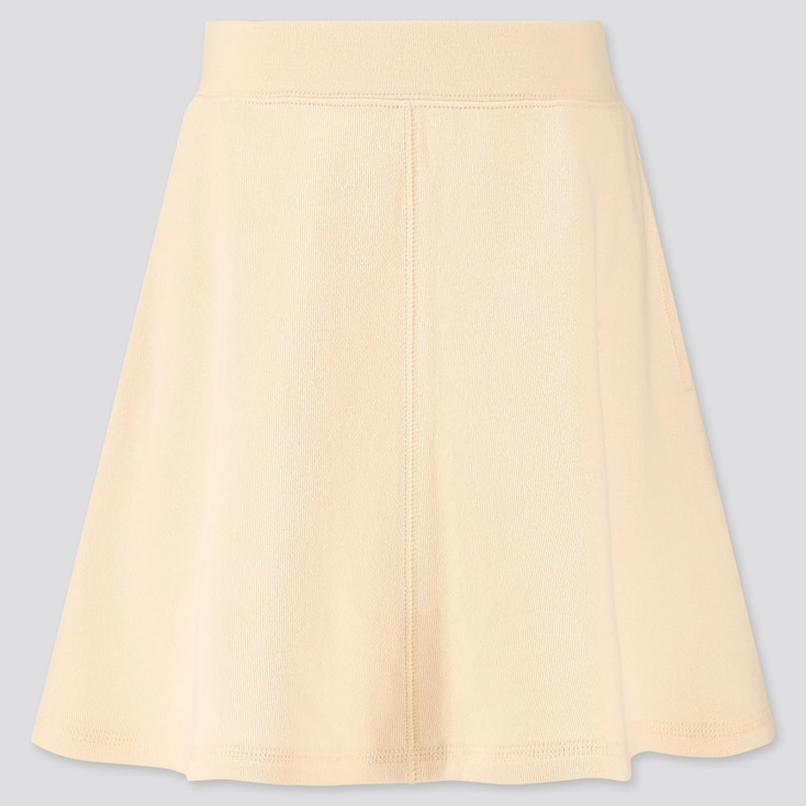Girls Sweat Skirt, Off White, Large