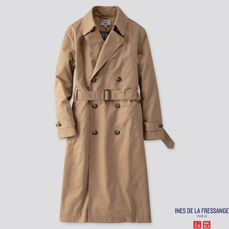 Women Trench Coat (Ines De La Fressange), Beige, Large
