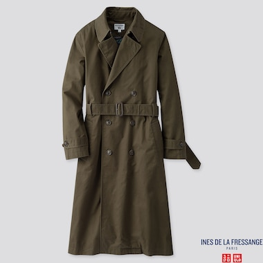 WOMEN TRENCH COAT (INES DE LA FRESSANGE), DARK GREEN, medium