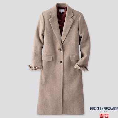 WOMEN CHESTER COAT (INES DE LA FRESSANGE), BROWN, medium