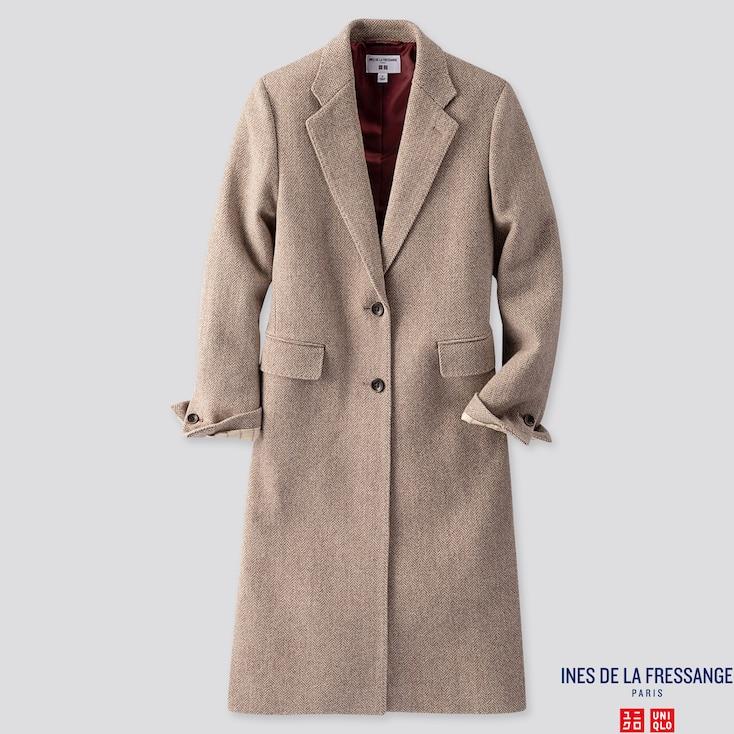 Women Chester Coat (ines De La Fressange), Brown, Large