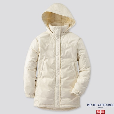 WOMEN OVERSIZED DOWN PARKA (INES DE LA FRESSANGE), OFF WHITE, medium