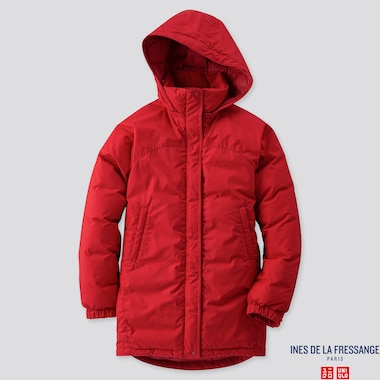 WOMEN OVERSIZED DOWN PARKA (INES DE LA FRESSANGE), RED, medium