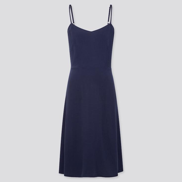 Women Cami Dress, Navy, Large