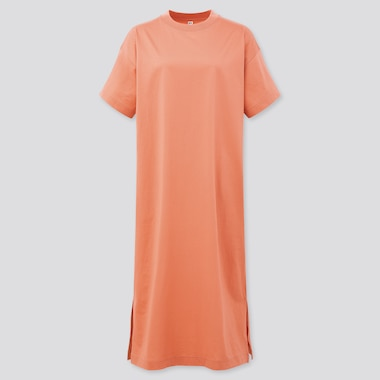 Women Mercerised Cotton Short Sleeved Maxi T-Shirt Dress