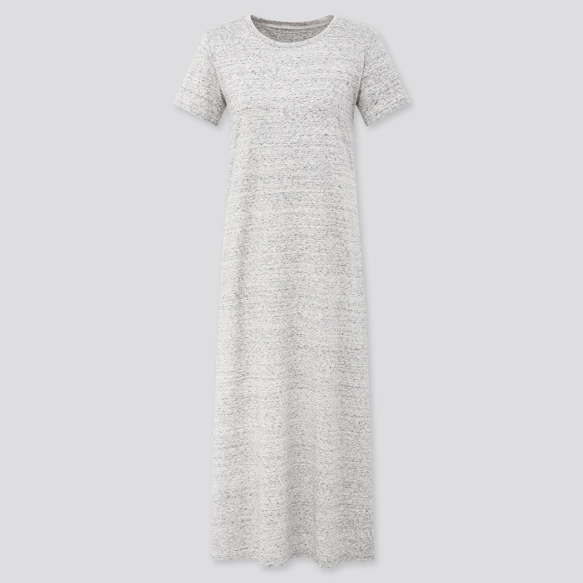 Uniqlo women short-sleeve long bra dress