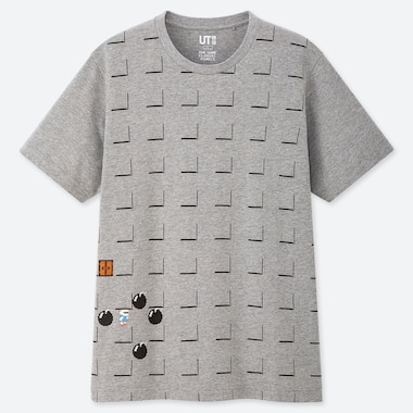 THE GAME PIXELS UT (SHORT-SLEEVE GRAPHIC T-SHIRT), GRAY, medium
