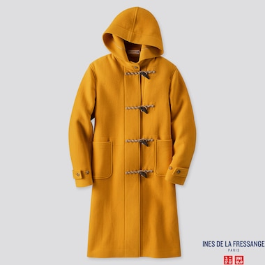 WOMEN WOOL-BLEND DUFFLE COAT (INES DE LA FRESSANGE), YELLOW, medium
