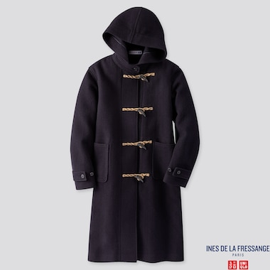 WOMEN WOOL-BLEND DUFFLE COAT (INES DE LA FRESSANGE), NAVY, medium