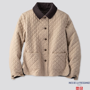 WOMEN QUILTED JACKET (INES DE LA FRESSANGE), BEIGE, medium