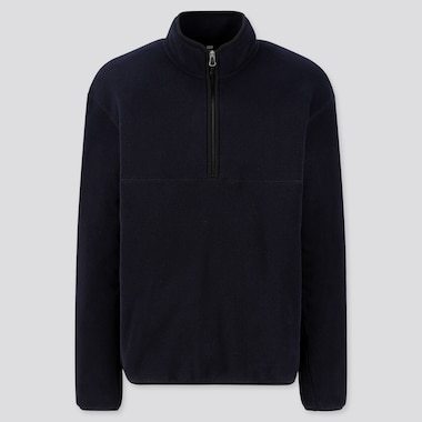 MEN FLEECE HALF-ZIPPED PULLOVER